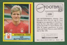 Nottingham Forest Ian Butterworth 220